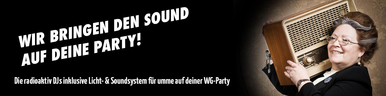 radioaktiv DJs auf deiner WG-Party!